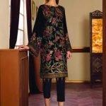 Baroque Embroidered Velvet Unstitched 3 Piece Suit BRQ 03