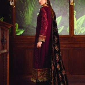 Baroque Embroidered Velvet Unstitched 3 Piece Suit BRQ 06