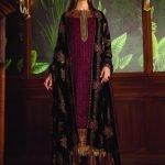 Baroque Embroidered Velvet Unstitched 3 Piece Suit BRQ 06