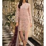 Clothing Anaya Embroidered Chiffon Unstitched 3 Piece Suit AS 03 - La Belle Soiree Festive
