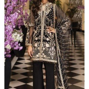 Embroidered Chiffon Unstitched 3 Piece Suit AS 04 - La Belle Soiree Festive