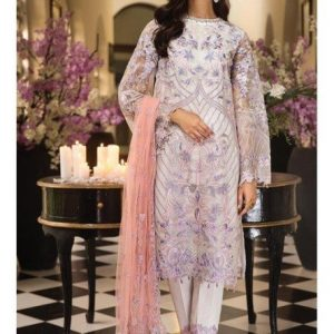 Embroidered Chiffon Unstitched 3 Piece Suit AS 06 - La Belle Soiree Festive