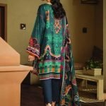 Fuchsia Digital Printed with Embroidered Viscose Linen Unstitched 3 Piece Suit FL 05