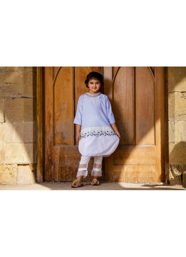Keshia Exclusive Facy Range 2 Piece Suits for Girls Blue