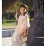 Keshia Exclusive Facy Range 2 Piece Suits for Girls Peach