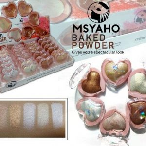 PACK OF 6 BAKED POWDER HEART SHAPE HIGHLIGHTER