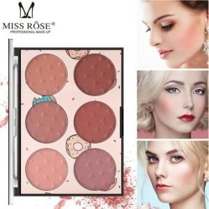 MISS ROSE PROFESSIONAL MAKEUP 6 Color Miss Rose Blush Glow Kit Face