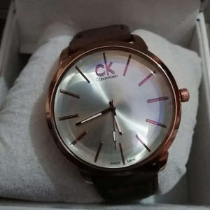 Calvin Klein Male Watch Round Dial Leather Strap AS-672