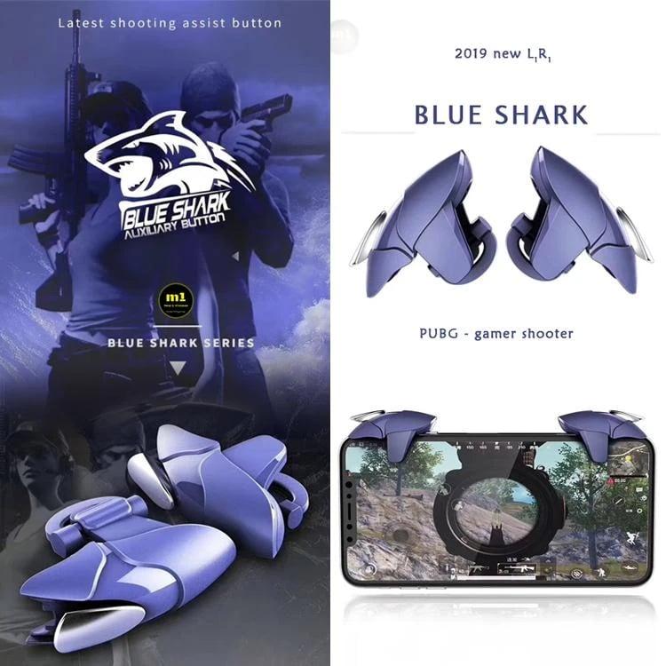 BLUE METAL SHARK MOBILE PUBG FIRE TRIGGER-1