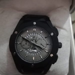 Hublot Male Watch Round Dial Leather Strap AS-674