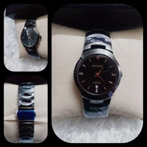Rado Jubile Male Watch Round Dial with Date and Silver Chain AS-676