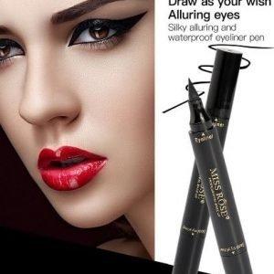 MISS ROSE Makeup Liquid Eyeliner Pencil Waterproof Black Color With Stamp-2