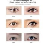 MISS ROSE Makeup Liquid Eyeliner Pencil Waterproof Black Color With Stamp-3