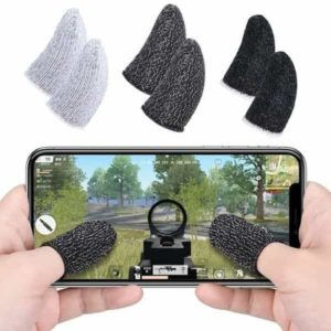 1 pair for pubg mobile games gloves sleep-proof sweat-proof professional touch screen thumbs finger sleeve for iphone  android