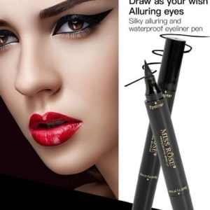 MISS ROSE Makeup Liquid Eyeliner Pencil Waterproof Black Color With Stamp