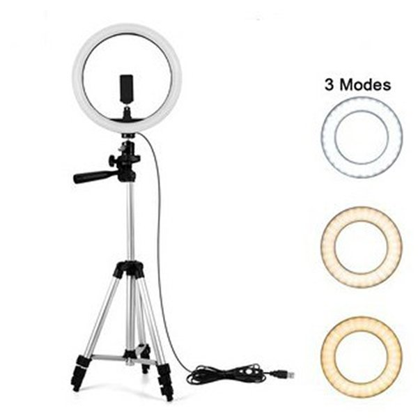 26cm selfie ring light with 40 inches tripod stand