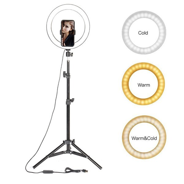 26cm selfie ring light with 7ft tripod stand