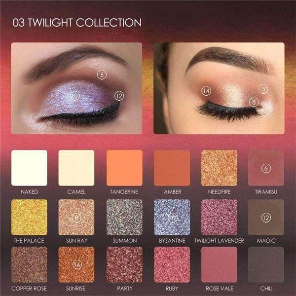 Focallure twilight eyeshadow palette - 18 shades full function palette (the limited edition)