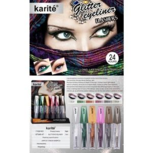 Karite 24 Hour Water Proof Glitter Eyeliner Flushers - 6pcs