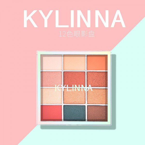Kylinna 12 color eyeshadow palette shimmer glitter eye shadow makeup