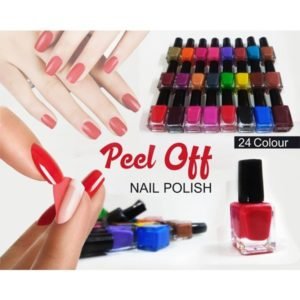 Peel Off Nail Polishes (Pack of 24)