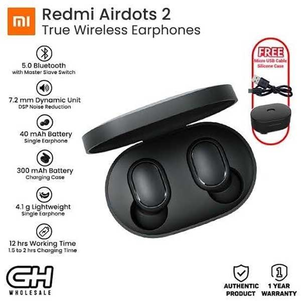 MI Redmi airdots 2 true wireless bluetooth earbuds