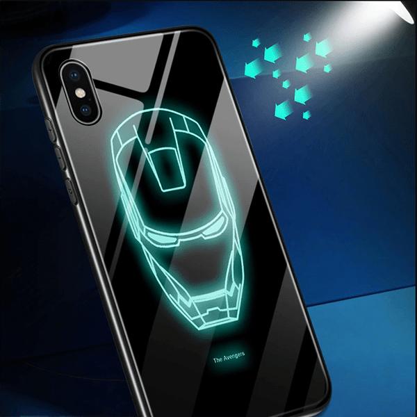 Samsung Galaxy S9 iron man glow back cover