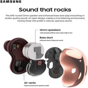 Samsung galaxy buds live true wireless earbuds with active noise cancelling wireless charging case included