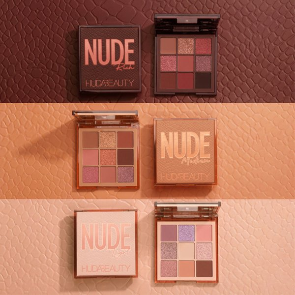 Huda Beauty Nude Obsessions Eyeshadow Palette (Pack of 3)