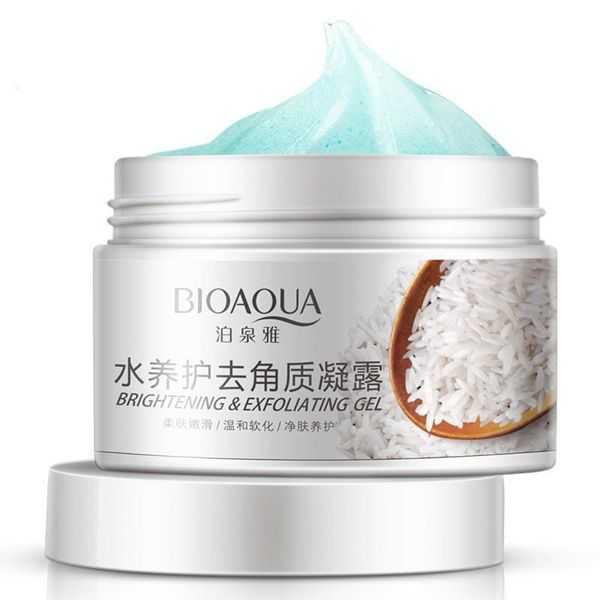 Bioaqua brightening and exfoliating rice gel face scrub