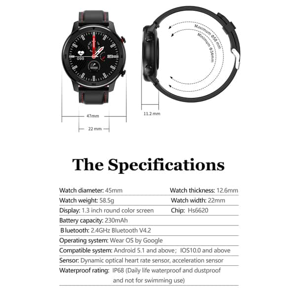 DT78 Smart Watch IP68 Waterproof17