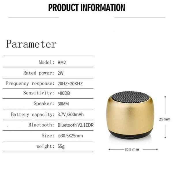 Mini speaker coin size wireless speaker pocket bluetooth speaker