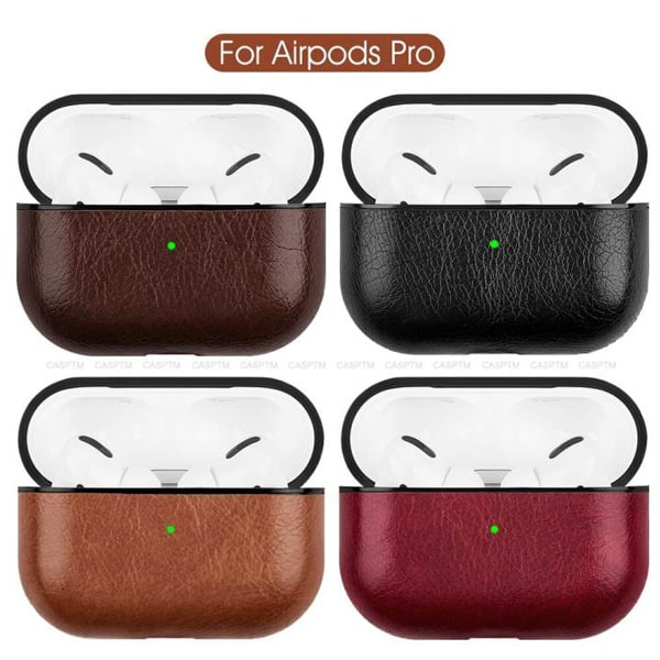 Pure leather earphone case for airpods pro