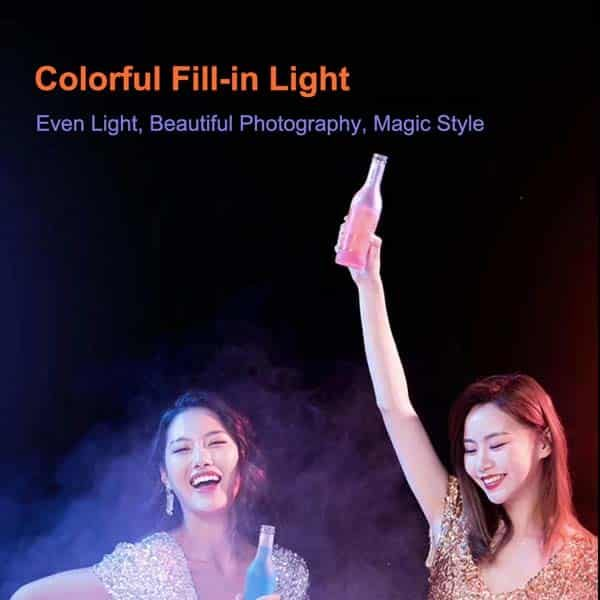 RGB 26cm selfie ring light with 7ft tripod stand