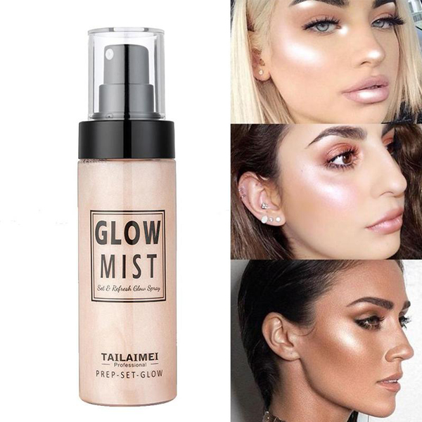 TLM Glow Mist Highlight Pre Setting Glow Spray Illuminating Shimmer Long