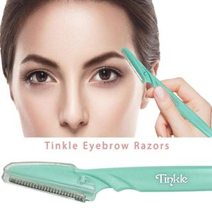 Tinkle Dorco Eyebrow Razor Hair Trimmer Shaver and Tough Up Tool Facial Razor with Safety Cover-1