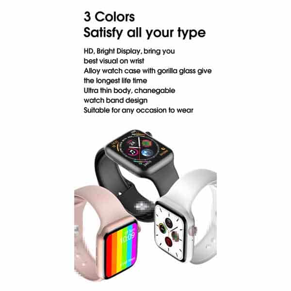 W26 smart watch infinity display screen full touch screen