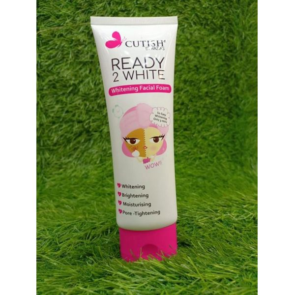 Cutish ready 2 white milky whitening cream with facial face wash 2in1