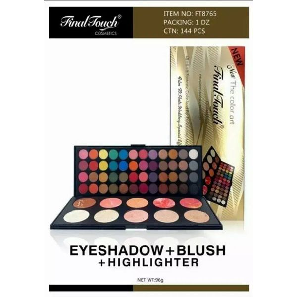 Final touch eyeshadow blusher and highlighter 58 in 1 palette