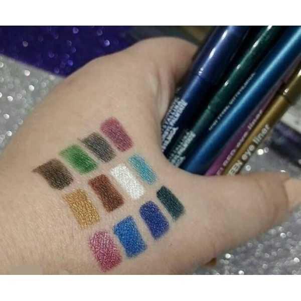 Flormar waterproof pencil eyeliners pack of 12