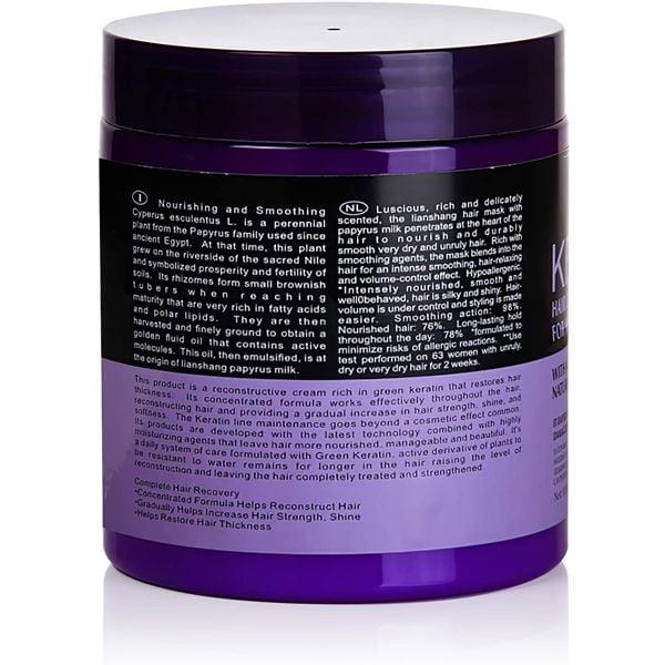 Lavender keratin hair care balance hair mask and hair treatment for healthy scalp 1000 ml