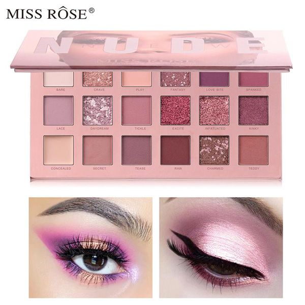 Miss rose sunset desert 18 colors eye shadow palette