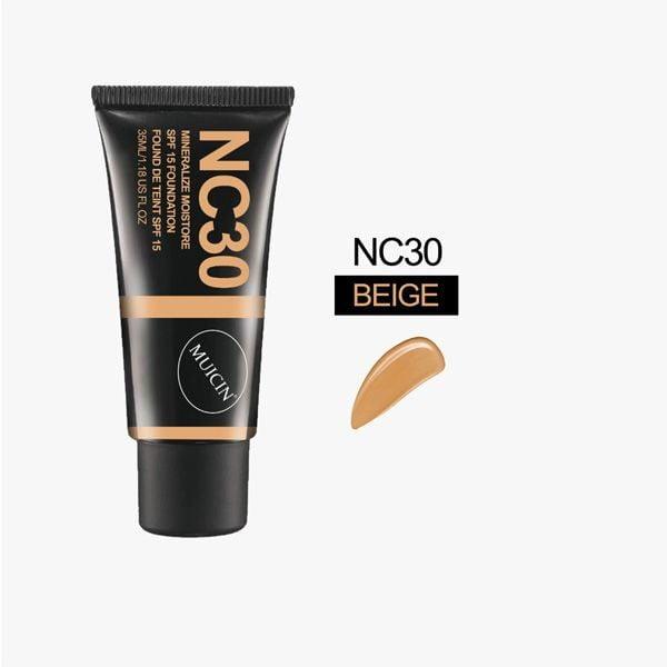 Muicin velvet foundation tube spf 15 flawless skin mineral moisturize 35 ml