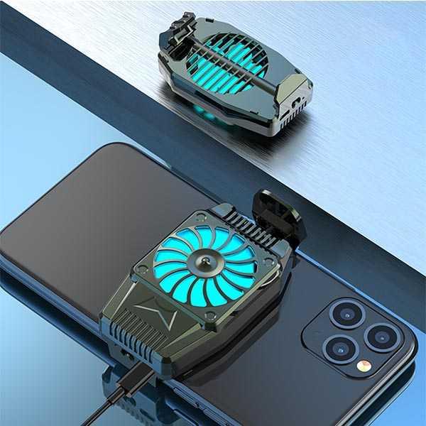 Pubg mobile phone cooler silent semiconductor radiator cooling fan bracket holder
