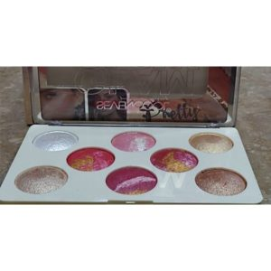 Seven cool 8 colors blush plus highlighter