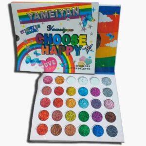 Yameiyan choose happy 30 colors glitter eyeshadow palette