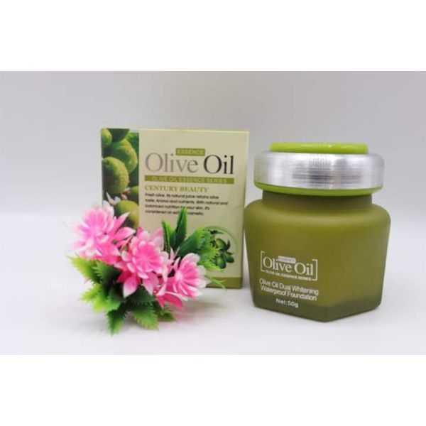 Century beauty olive oil whitening moisturizer cream & dual whitening foundation pack of 2