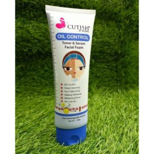 Cutish oil control toner & serum facial foam 100g pack of 3