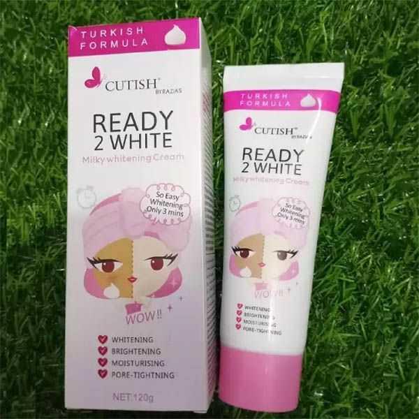 Cutish ready 2 white milky whitening cream