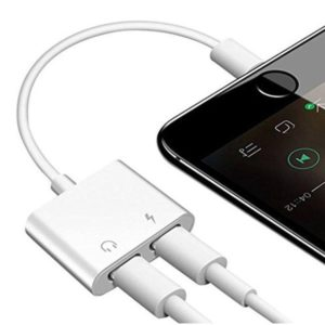 Apple dual iphone lightning audio & charger adapter